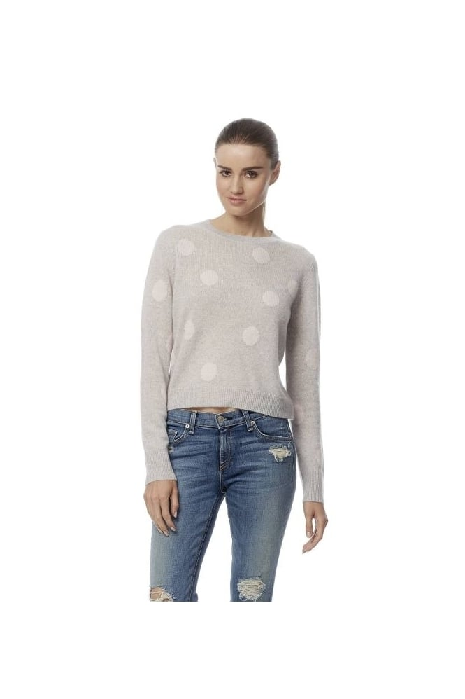 360 Cashmere Cashmere Grey Tifa Jumper with Pink Spots