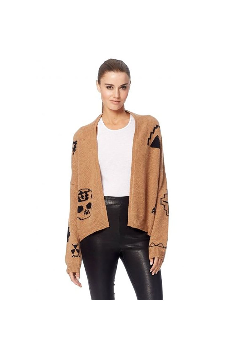 360 Cashmere Cleo Camel Skull Cardigan 94104 - WOMAN from Piajeh UK