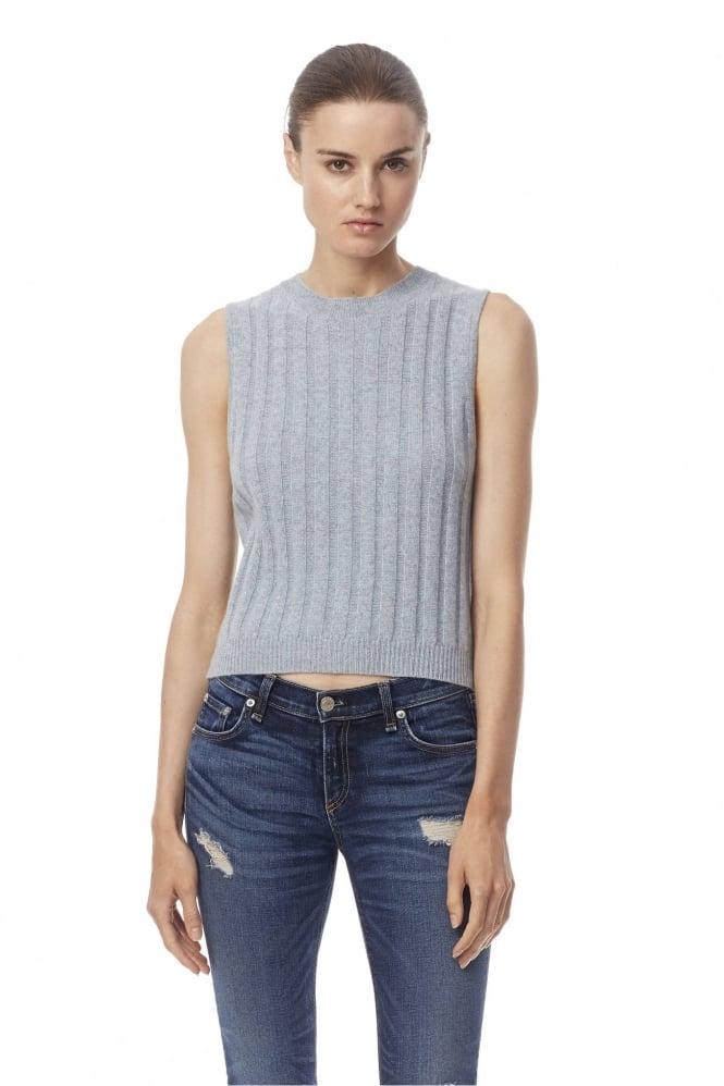 360 Cashmere KAIA Sleeveless Blue Top