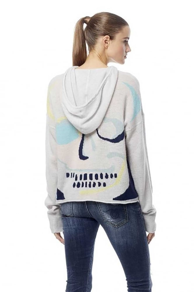 360 Cashmere Skull Sonja Hooded Jumper