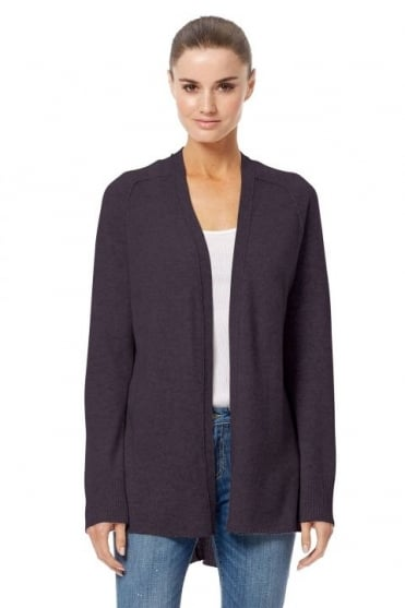 360 Cashmere Women's 33304 Elisa Grey Open Cardigan