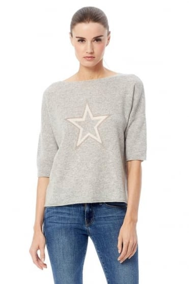 360 Cashmere Women's 35124 Poppy Grey Jumper
