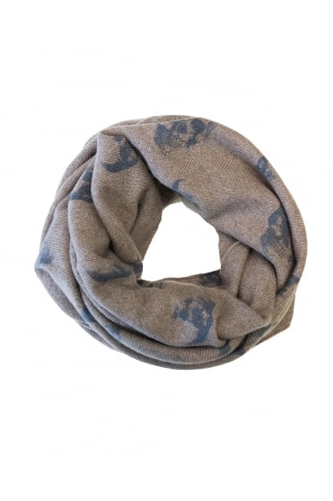 360 Cashmere Women's 87340 Skull Cosy Snood