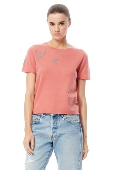 360 Cashmere Women's 95175 Etta Orange Top