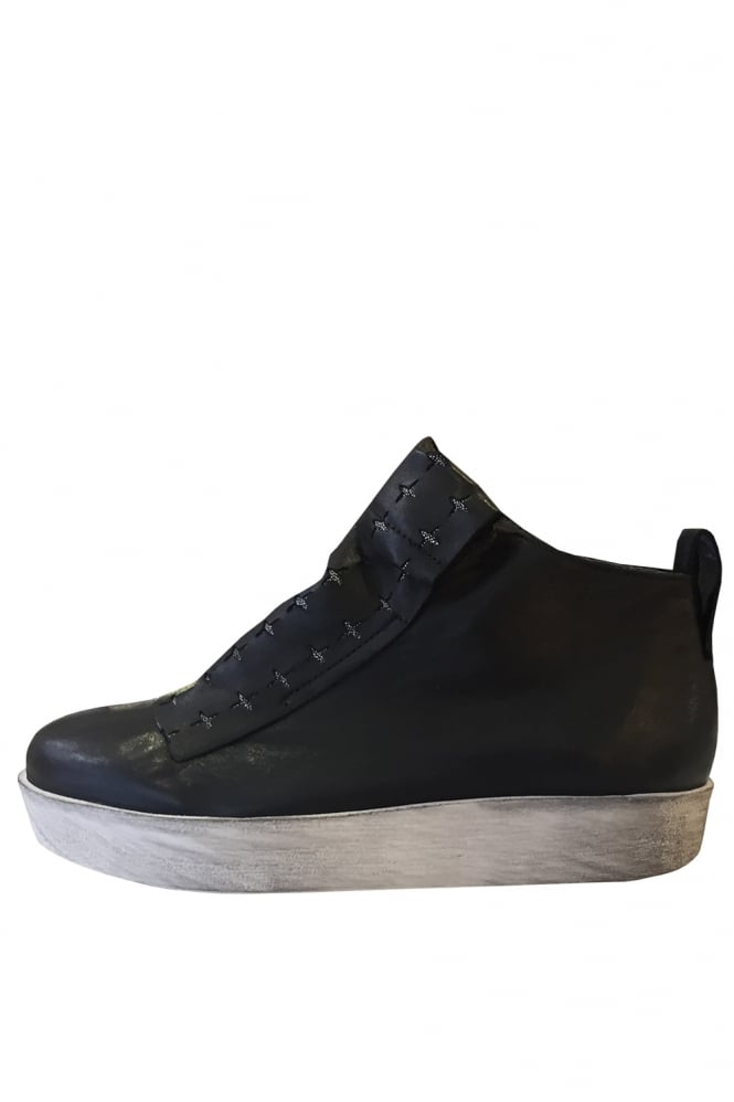 Andia Fora Anser Black Cross High Top Trainers