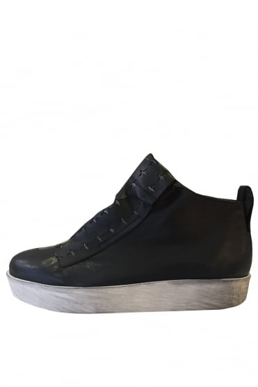 Anser Black Cross High Top Trainers