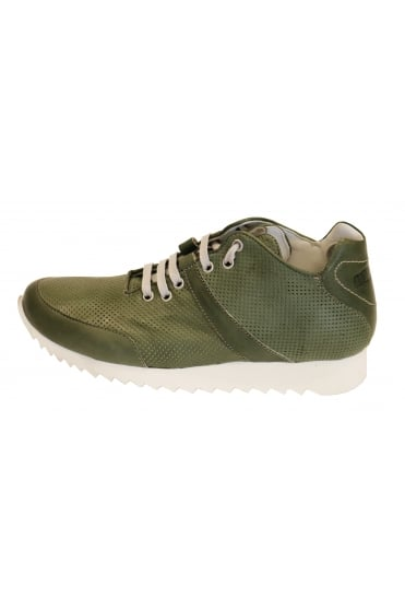 Andia Fora Men's Kied Leather Green Trainer