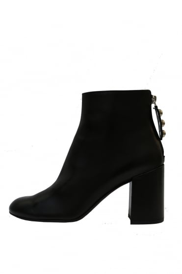 Black Leather Ankle Boot D237502