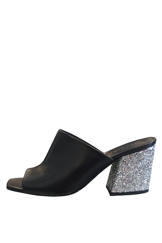 a63989043f0 BALDAN Baldan Women s 1106 Nappa Glitter Orange or Black Heeled Mule ...