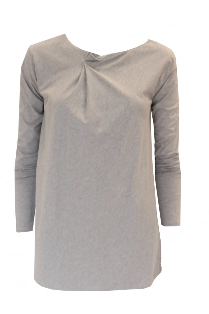 Brunello Cucinelli Beige Long Sleeved Embellished Top