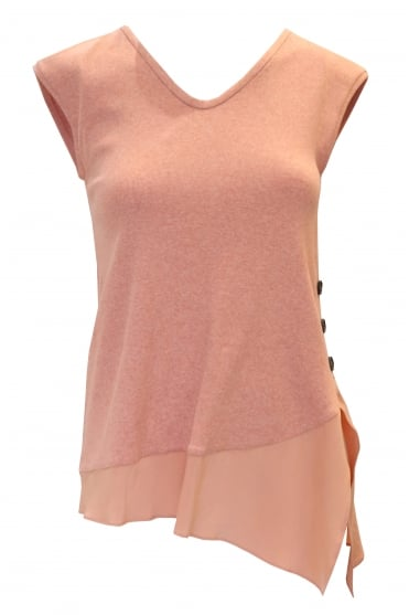 Coral Sleeveless Knitted Vest Top
