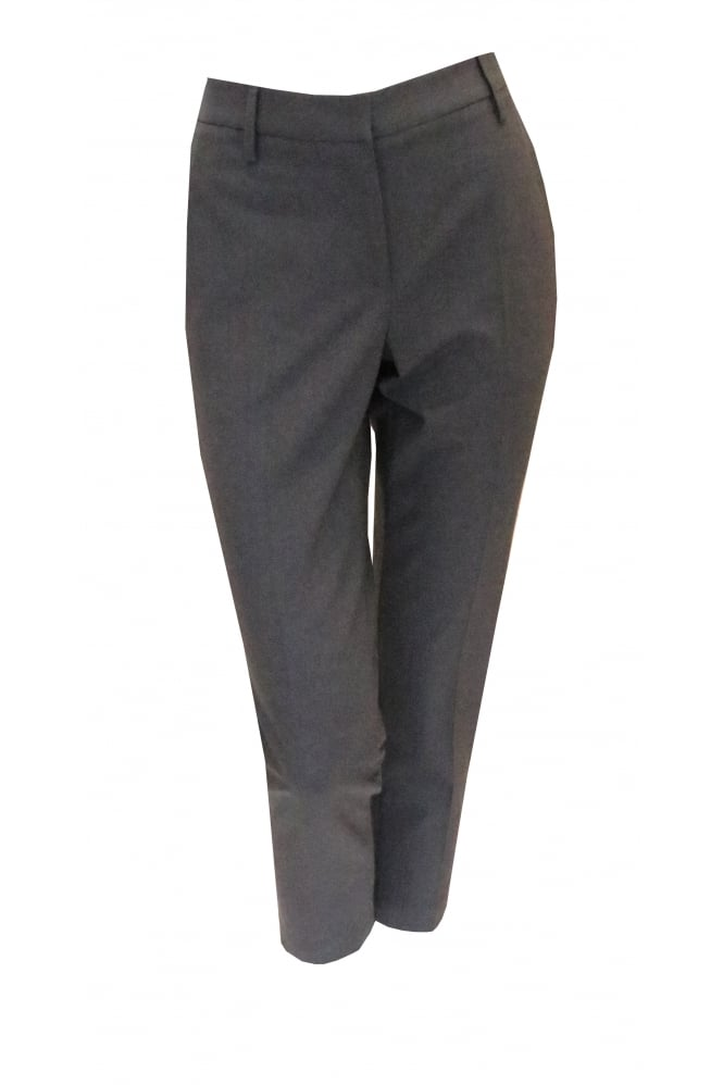 Brunello Cucinelli Dark Grey Trousers With Frayed Trim