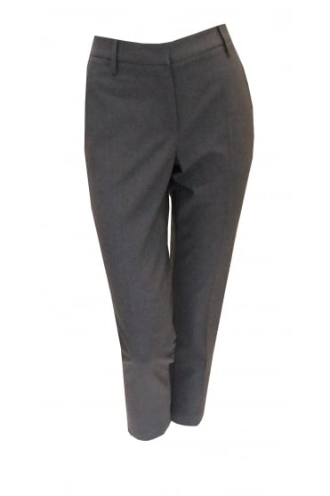 Dark Grey Trousers With Frayed Trim