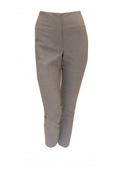 Grey High Rise Straight Trousers 1133