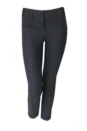 Grey Panel Straight Trousers p1700