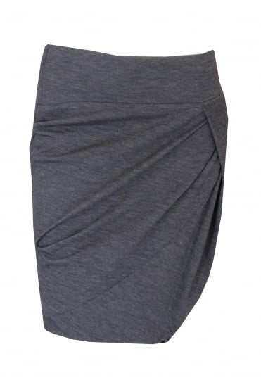 Grey Wool Skirt