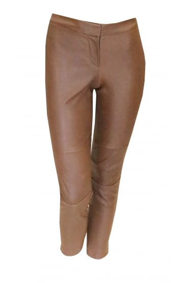 Light Brown Leather Trousers 91551