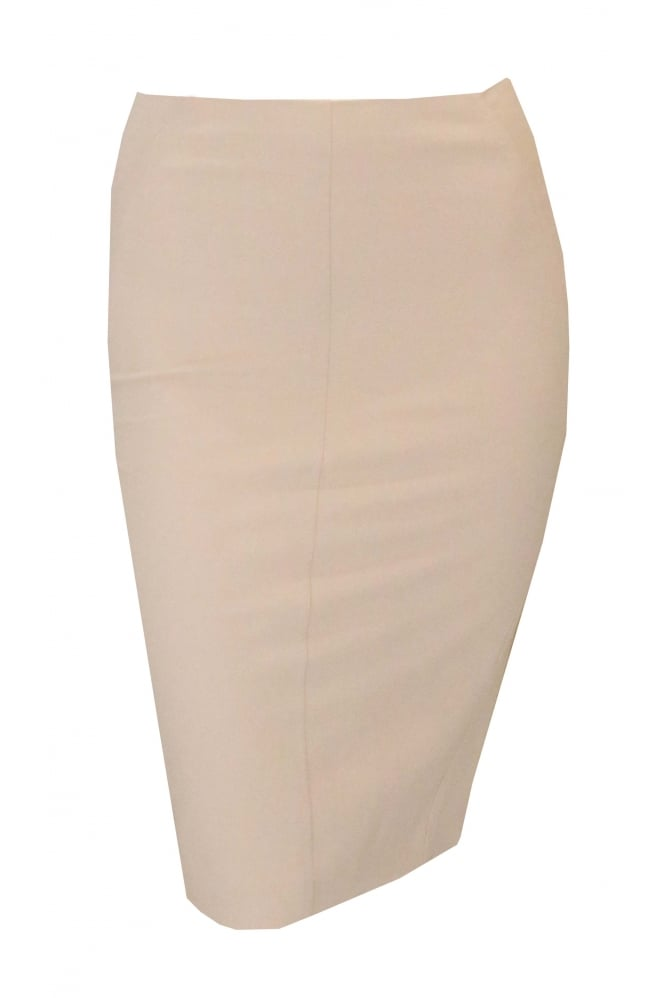 BRUNELLO CUCINELLI Oatmeal Straight Skirt With Pockets