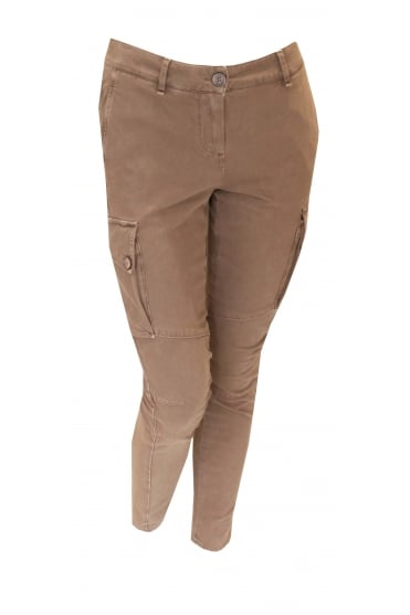 Tan Cord Trousers With Pockets 9211