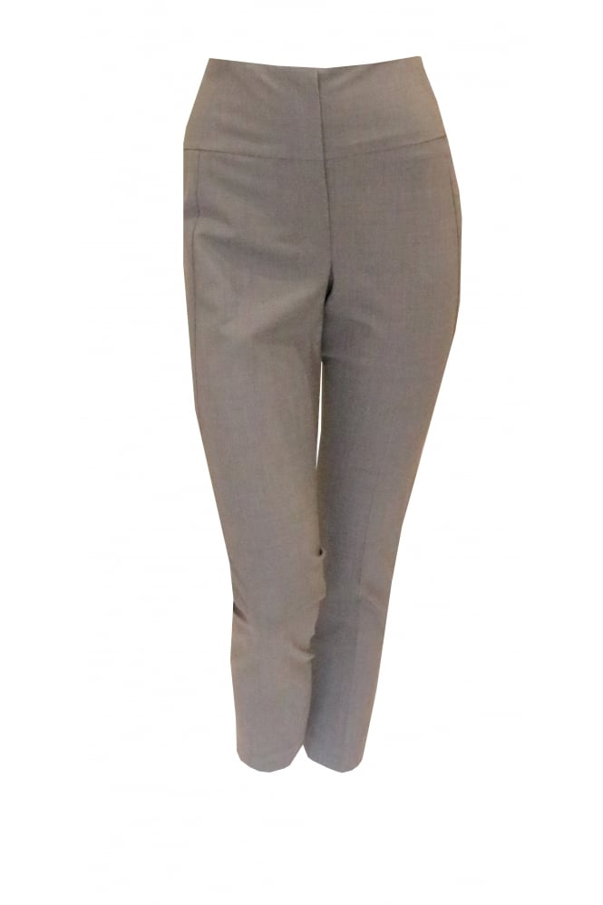 BRUNELLO CUCINELLI Women's Grey High Rise 1133 Straight Grey Trousers