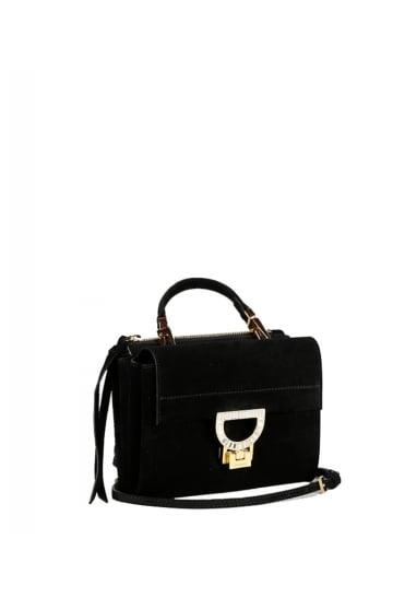 Coccinelle Women S Bd8 55b701 Suede Mini Black Bag