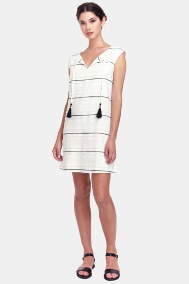 Pietra Stripy White Tassel Dress CEP1703