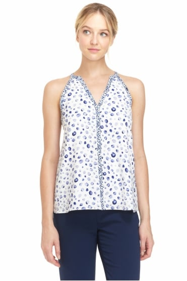 Stefany Patterned Top With Racer Back CEP1741P