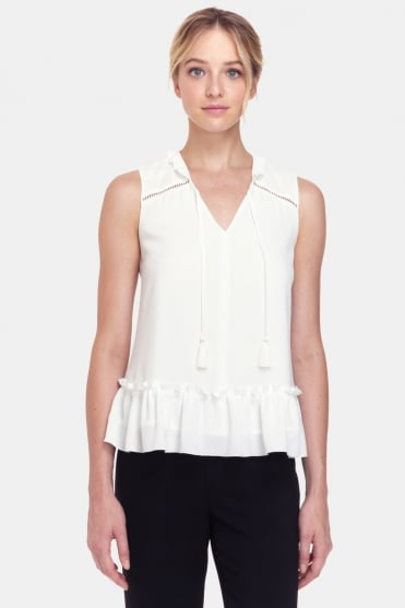 Yasmin Ruffle Sleeveless Top CEP1719