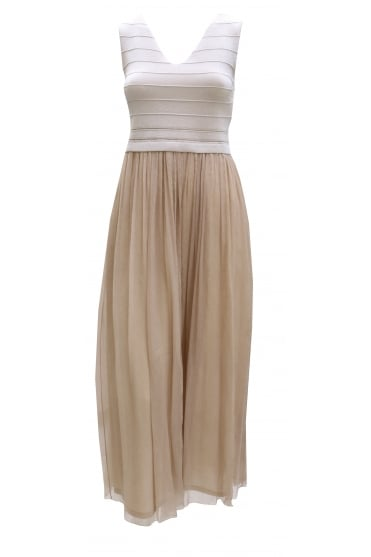 D'Exterior Women's 44196 Bandage Maxi Gold Dress