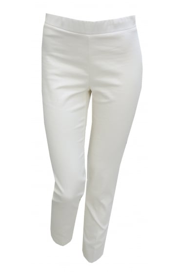 D'Exterior Women's Jacquard 44702 Peg White or Grey Trousers