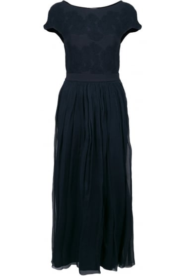 D.Exterior Women's 46556 Long Navy or Red Dress