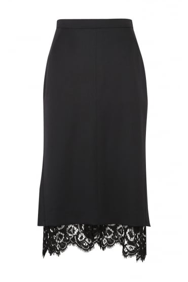Cool Ambition Black Lace Skirt 640205