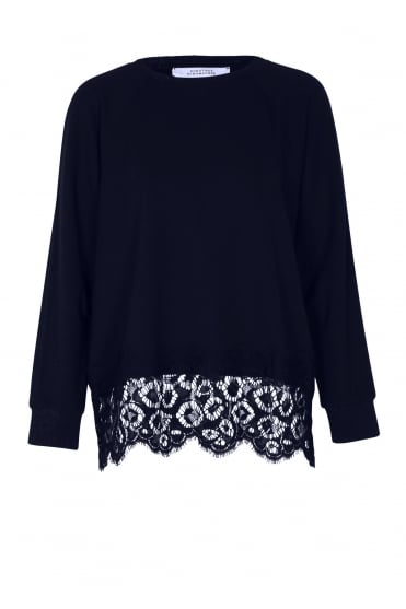 Effortless Emotion Navy Lace Sweater 623604