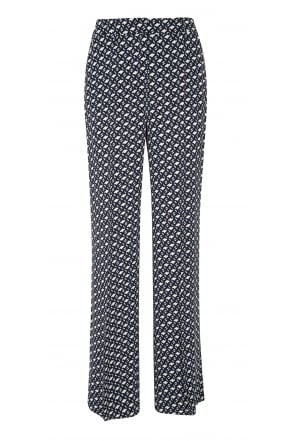 Dorothee Schumacher Graphic Embrace Wide Leg Patterned Trousers 647602