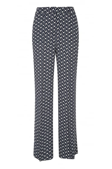 Graphic Embrace Wide Leg Patterned Trousers 647602