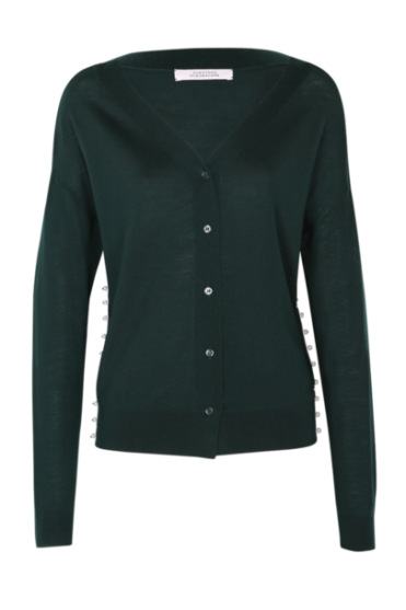 Dorothee Schumacher Women's 510402 Pearl Couture Green or Navy Cardigan