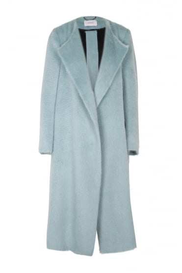 Dorothee Schumacher Women's 543001 'Good As Gold' Long Blue Coat