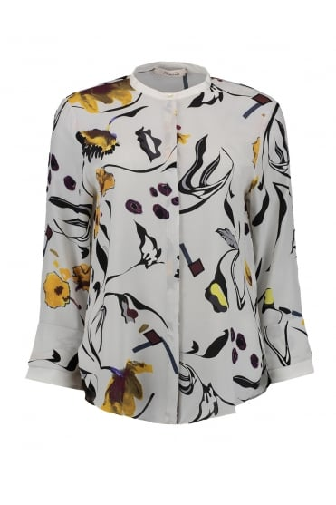 Dorothee Schumacher Women's 747004 Floral Abstraction Yellow Blouse