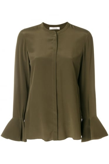 Dorothee Schumacher Women's 749005 Captivating Motion Green Blouse