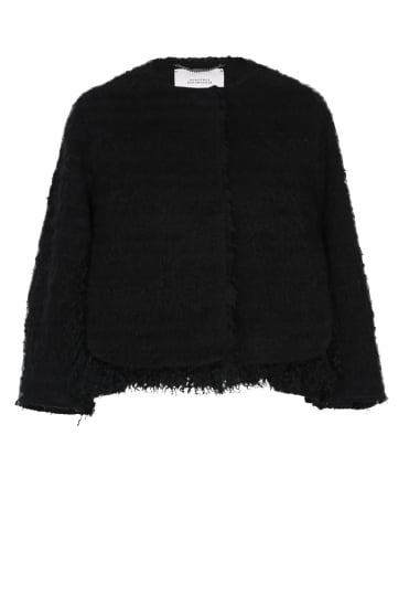 Dorothee Schumacher Women's Tender Texture 3/4 Black Jacket