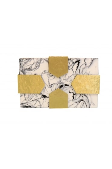 Marble Pearlescent Rectangle Clutch Bag EKO48-2B