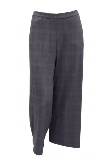 Grey Checked Culotte Trouser PG78017
