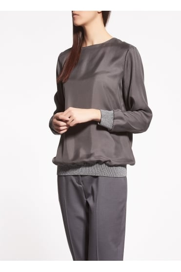 Grey Silk Top TP93917