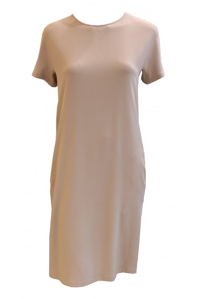 Fabiana Filippi Midi Length Beige Dress AB36217
