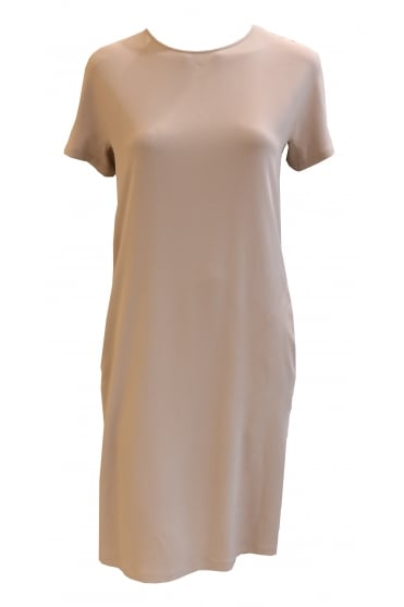 Midi Length Beige Dress AB36217