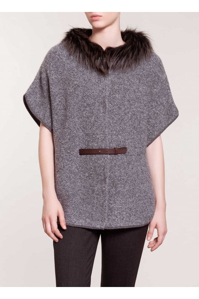 FABIANA FILIPPI Women's 73816 Grey Cape