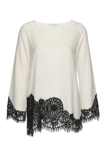 Falcon & Bloom Women's FB178 Bell Sleeve White Top