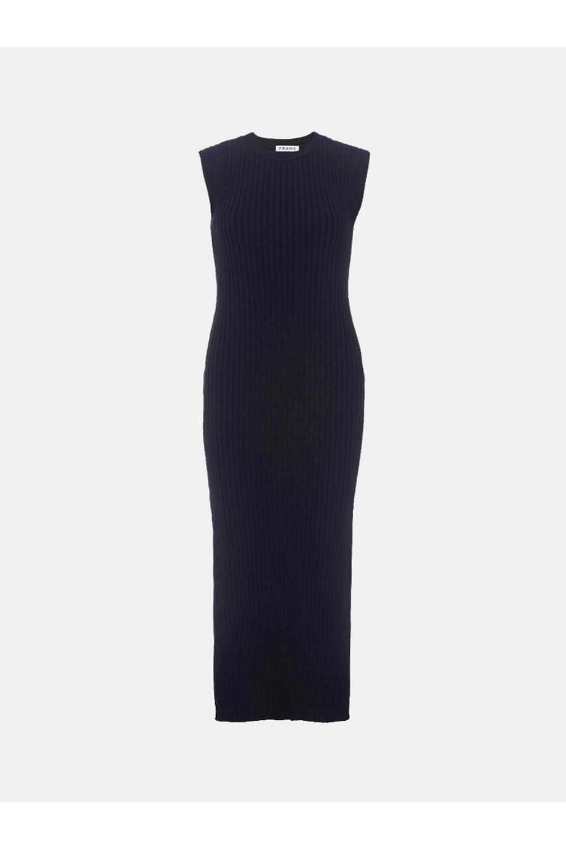 d2579e62c6d FRAME Frame Women s LWSW0174 Sleeveless Rib Navy Dress - WOMAN from ...