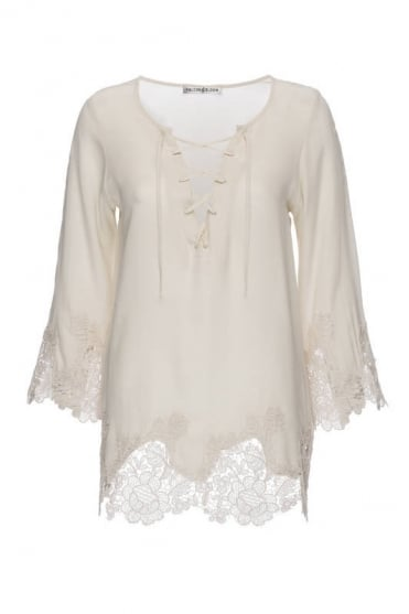 Lace 3/4 Sleeve Top GH353