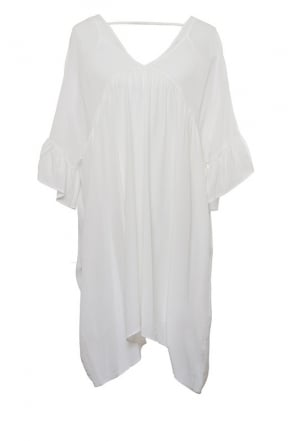 Goldhawk White Silk Smock Dress GH559